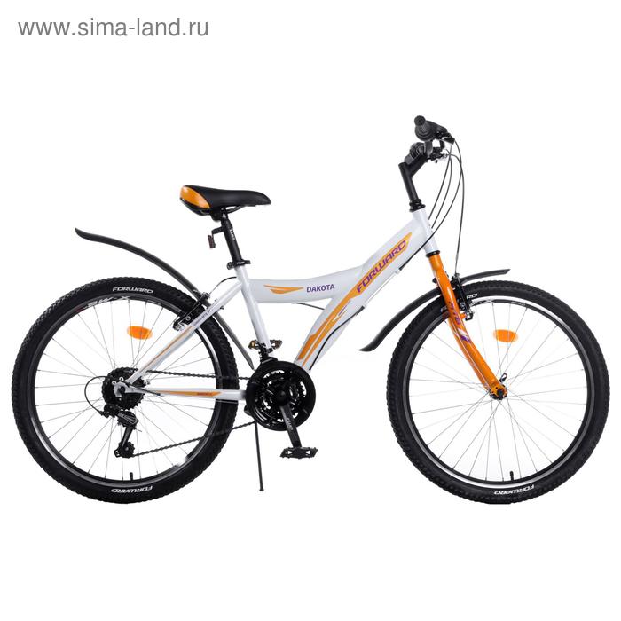 """Велосипед 24"""" Forward DAKOTA 24 1.0, 2017, цвет белый, размер 15"""""""