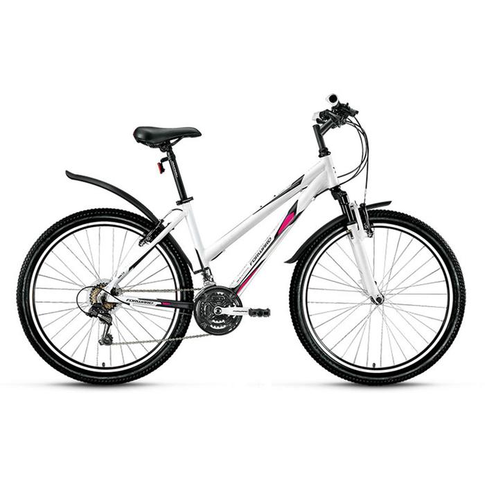 "Велосипед 26"" Forward Jade 1.0, 2016, цвет белый/сер.мат., размер 15"""