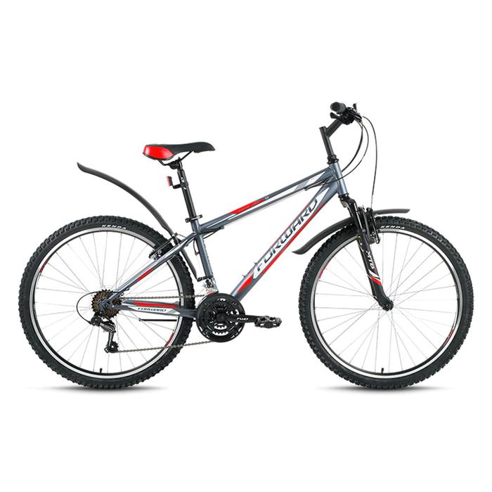 """Велосипед 26"""" Forward Sporting 1.0, 2017, цвет серый, размер 19"""""""