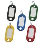 Брелоки для ключей STAFF эконом, комплект 100 штук, длина 48 мм, инфо-окно 28x15 мм, микс