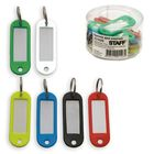 Брелоки для ключей STAFF, эконом, комплект 12 штук, длина 60 мм, инфо-окно 35x15 мм, микс