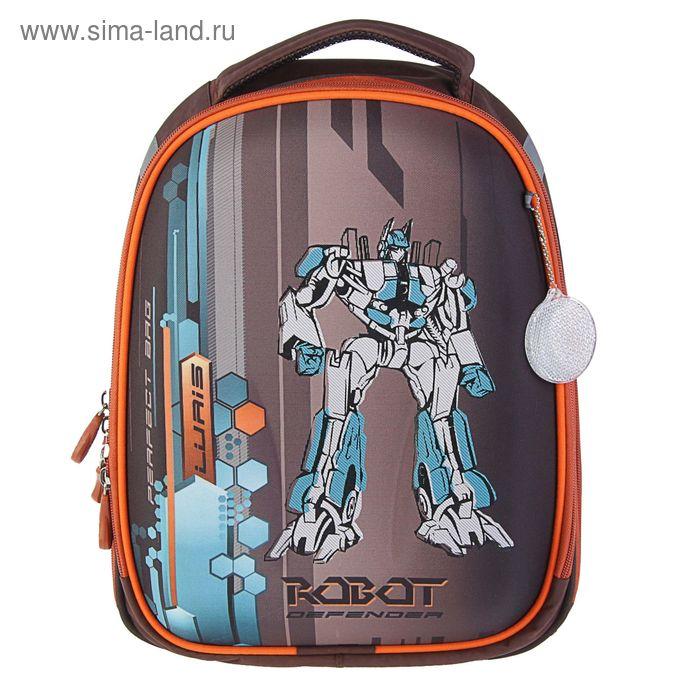 Рюкзак каркасный Luris 37*28*19 Колибри 1 + мешок для обуви «Робот»