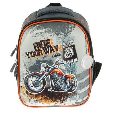 """Рюкзак каркас Luris 38*28*18 Джерри 1 +мешок д/обуви мал. """"Мотоцикл"""""""