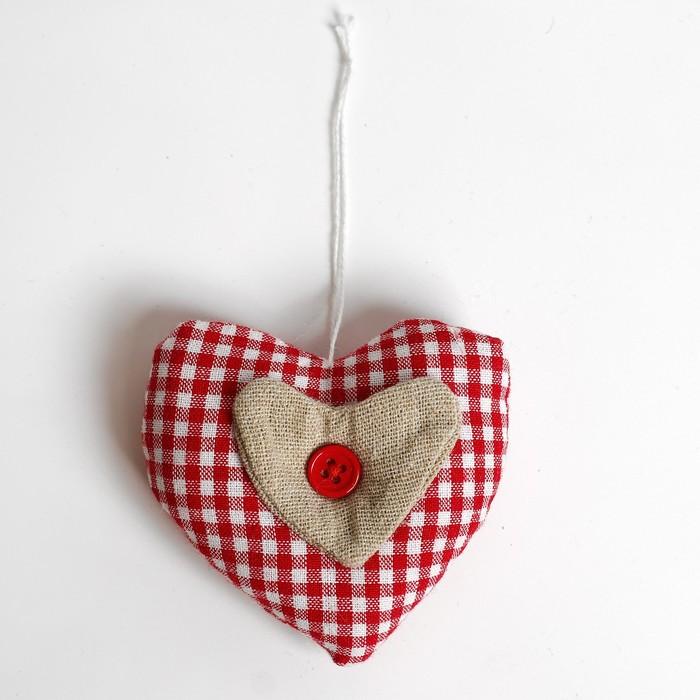 Подвеска «Сердце», с пуговкой, цвета МИКС