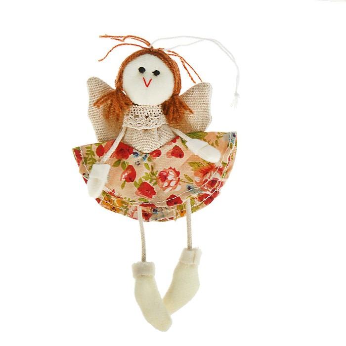 Мягкая игрушка кукла «Ангелочек», юбка в цветочек, цвета МИКС