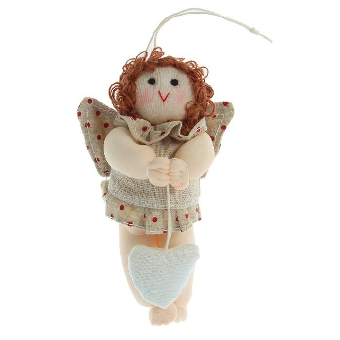 Мягкая игрушка кукла «Ангел с сердцем», с подвесом