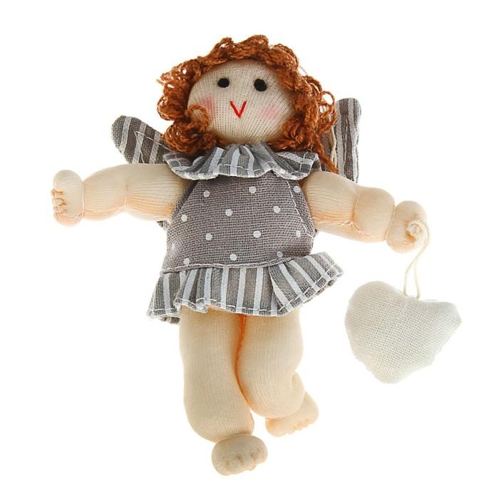 Мягкая игрушка кукла «Ангелок с сердцем», с подвесом