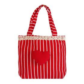 Подарочная сумочка «Сердечко», с оборочкой, цвета МИКС