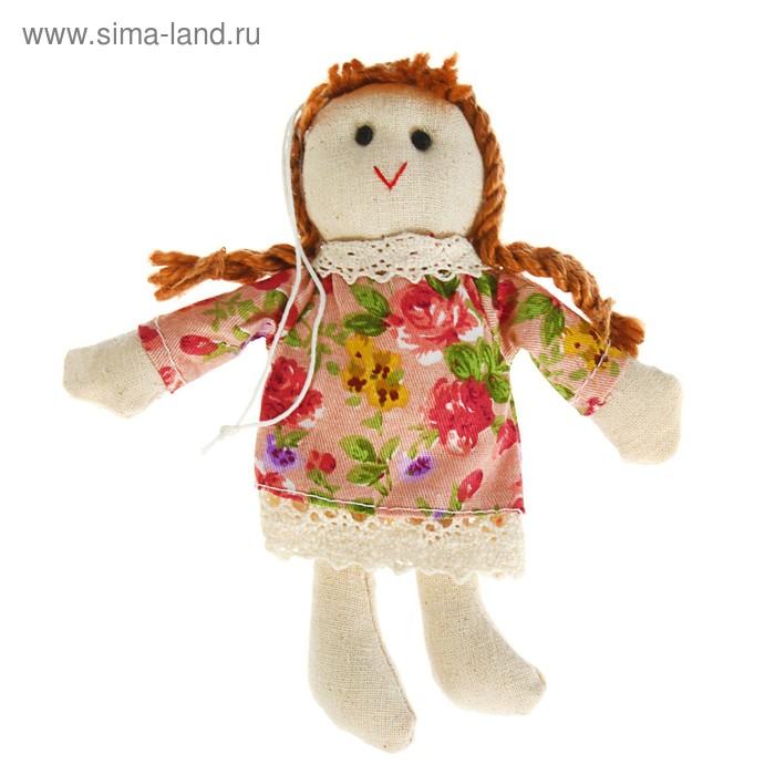 "Мягкая игрушка кукла ""Матрена"" косички. с подвесом, цвета МИКС"