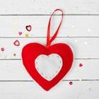 """Мягкая игрушка-подвеска """"Двойное сердце"""" со стежками, цвета МИКС"""