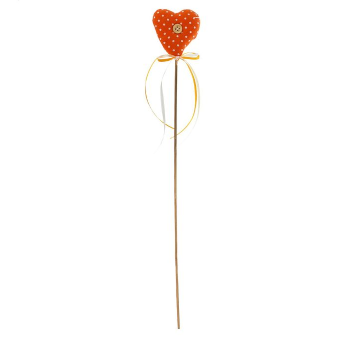 Мягкая игрушка на палочке «Сердце с пуговкой», бантик, цвета МИКС
