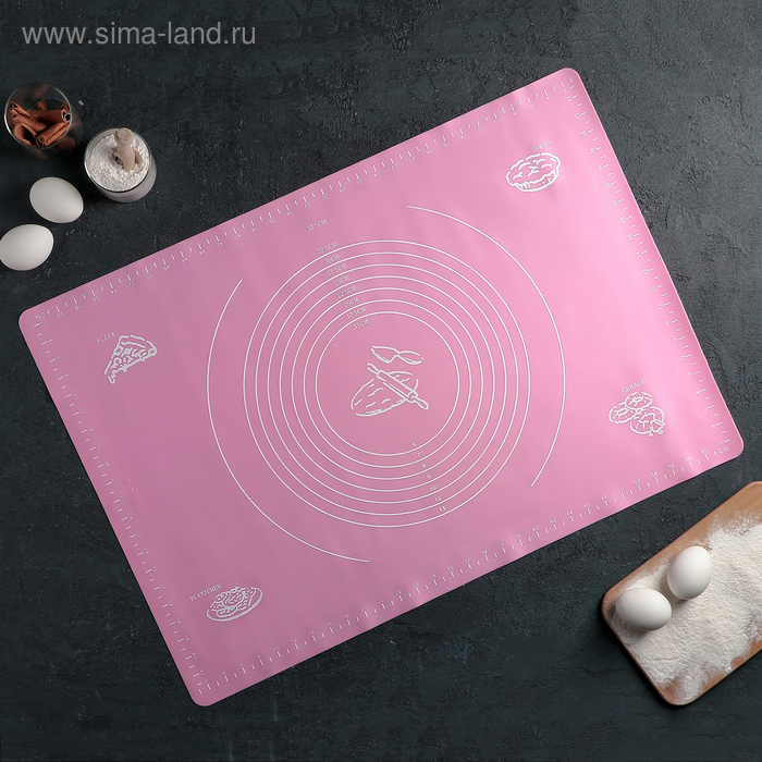 """Mat with markings 64,5h45, see the """"Hermes"""", colors MIX"""