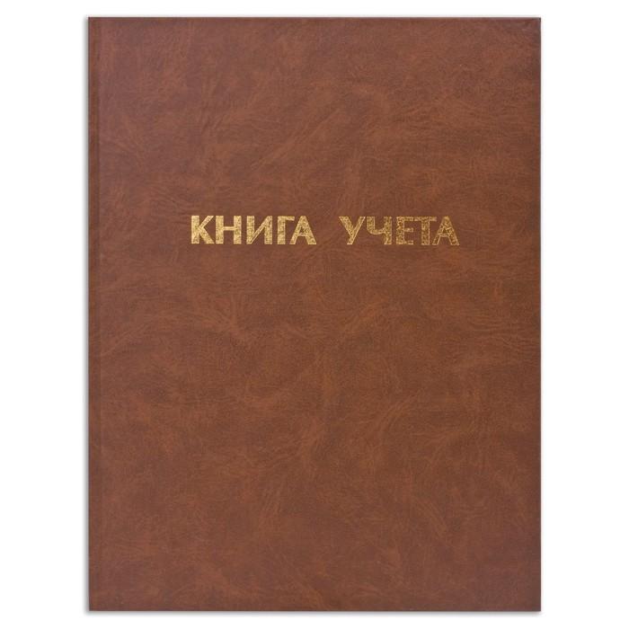 Книга учета А4, 96л 210x265 мм клетка, обложка бумвинил, пустографка, блок офсет