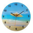 """Часы настенные, серия: Море, """"Пляжный зонтик"""", d=30 см"""