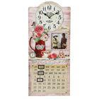 """Часы настенные, серия: Интерьер, """"Розы в кувшине"""", с фоторамкой и календарём, 27х60 см"""