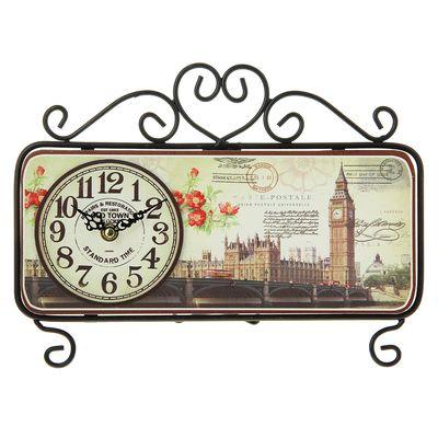 """Часы настольные """"Old Town"""", черные, 32х22 см"""