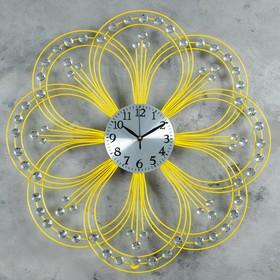 """Часы настенные, серия: Ажур, """"Сияющий цветок"""", d=60 см, микс"""