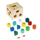 Куб логический «Цифры, фигуры и мишка»