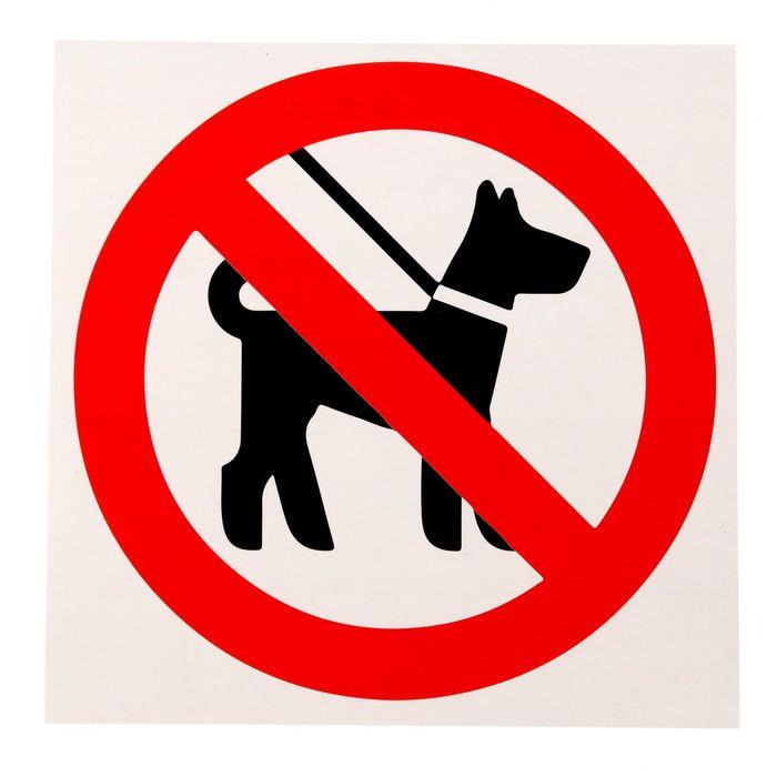"""Наклейка """"Запрещается вход с животными"""""""