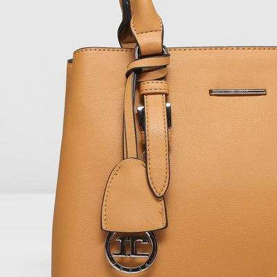 Сумка женская, отдел с перегородкой, с расширением, наружный карман, цвет коричневый