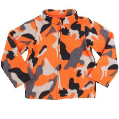 """Кофта для мальчика """"Крошка Я"""" Саванна цвет оранжевый, рост 110-116 см, флис"""