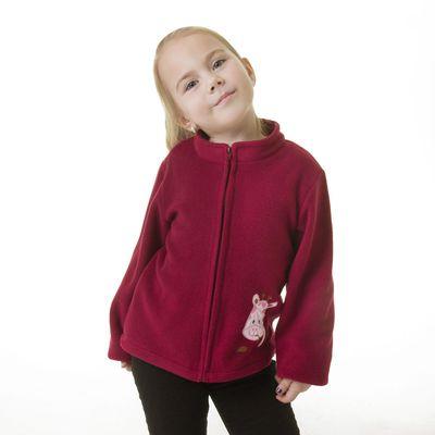 """Кофта  для девочки """"Крошка Я"""" Бордо с вышивкой, рост 98-104 см, флис"""