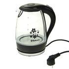 Чайник электрический Sakura SA-2710BK, стекло, 1.7 л, 1850-2200 Вт, подсветка, черный - фото 896444