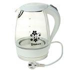 Чайник электрический Sakura SA-2710W, 1850-2200 Вт, 1.7 л, стеклянный, подсветка