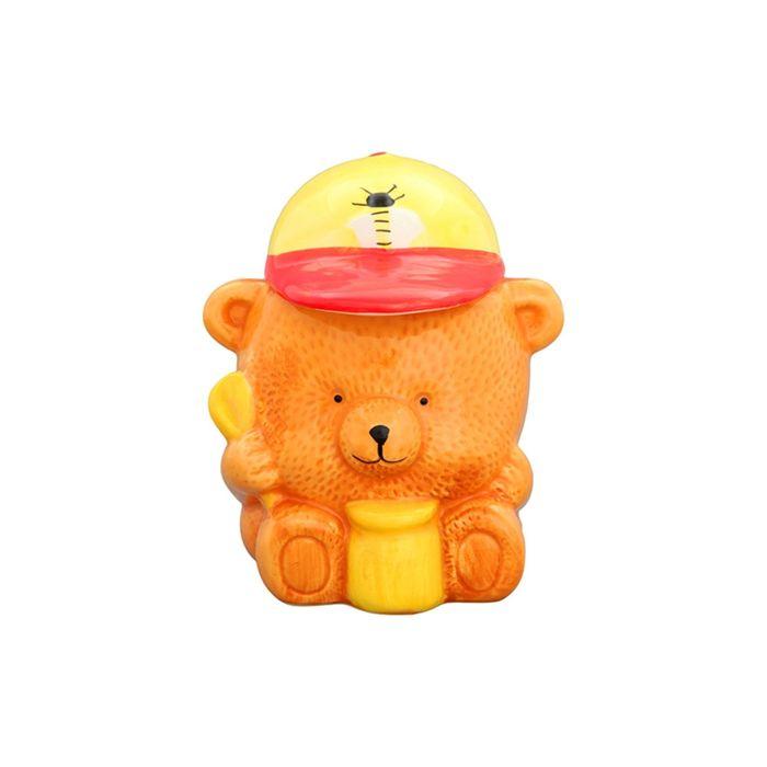 "Горшочек для мёда ""Медвежонок"", 11 х 10 х 14 см, 500 мл"