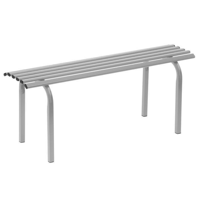 Скамья садовая без спинки «Скамейка №1», 101 × 34.5 × 42 см, двухместная, серая