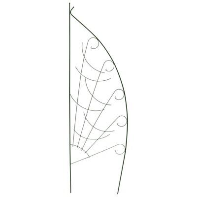 """Шпалера """"Парус"""", 190 х 57 х 1 см, металл, зелёная"""