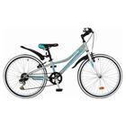 """Велосипед 24"""" Novatrack Alice, 2017, 6 ск., цвет голубой, размер 12"""""""