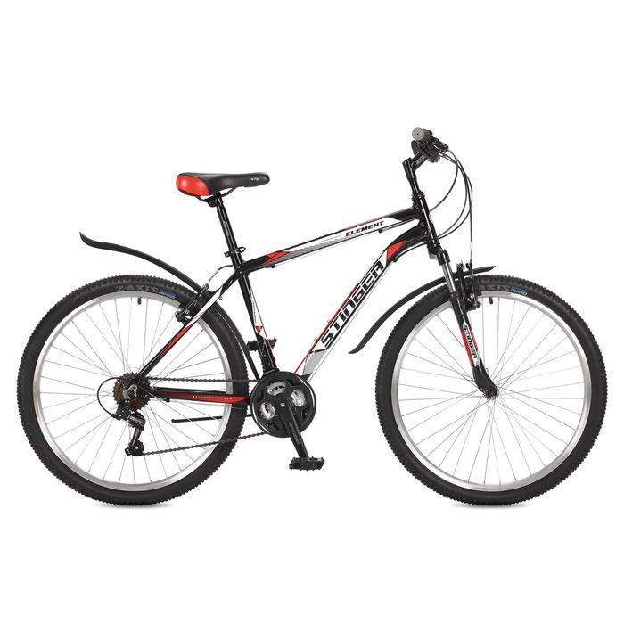 """Велосипед 26"""" Stinger Element, 2017, цвет черный, размер 14"""""""