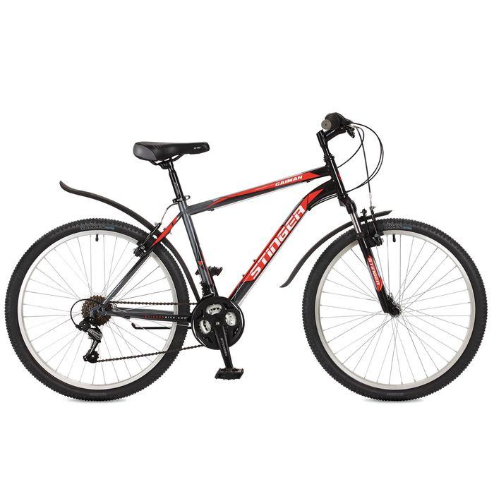 """Велосипед 26"""" Stinger Caiman, 2017, цвет черный, размер 20"""""""