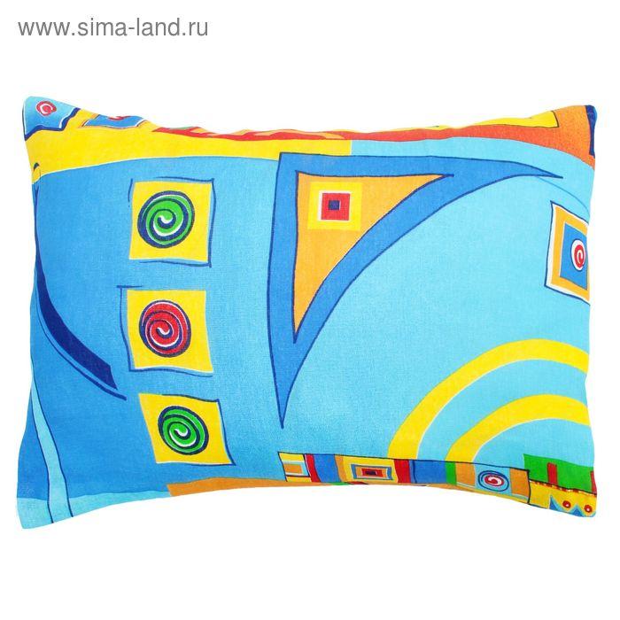Наволочка, размер 42*52 см, цвет голубой 080102-05
