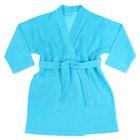 Халат махровый, рост 104 см, цвет голубой 09811-19