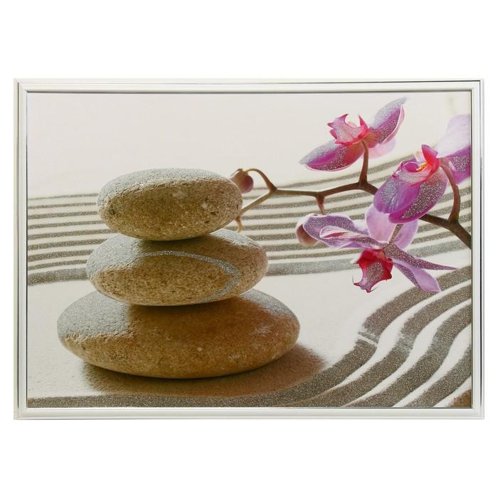 """Картина """"Орхидея и камни на песке"""""""
