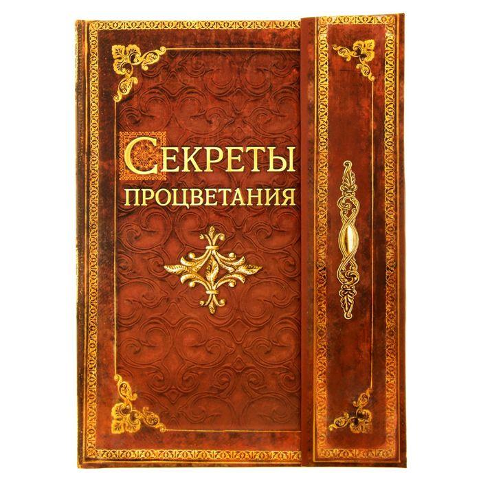 """Ежедневник с магнитным клапаном """"Секреты процветания"""", твёрдая обложка, А5, 84 листа"""