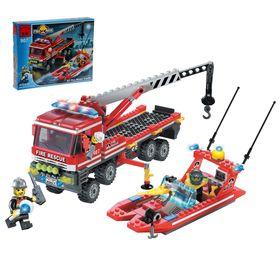 Конструктор «Пожарные спасатели», 420 деталей