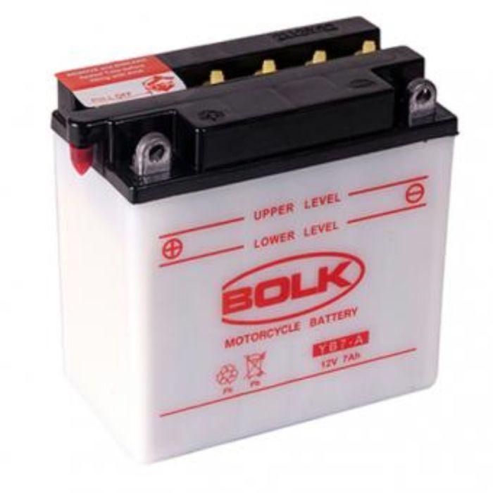 Аккумуляторная батарея BOLK 7 А/ч - 6СТ мото сухой, 508013-YВ7-A
