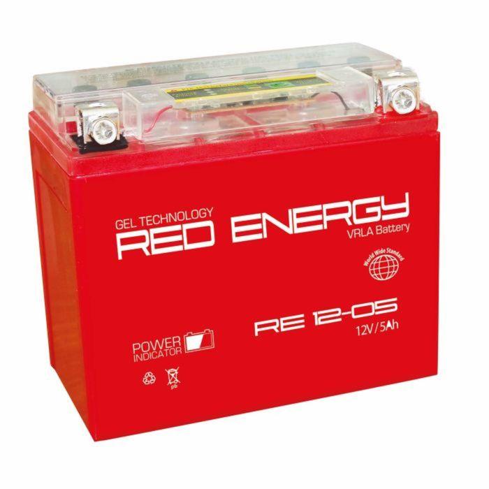 Аккумуляторная батарея Red Energy 12-05 moto 5 А/ч - 6СТ AGM, тип. YTX5L-BS