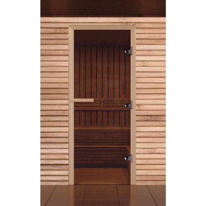 """Дверь для бани и сауны """"Простая"""", бронза, 8мм, 190х70см"""