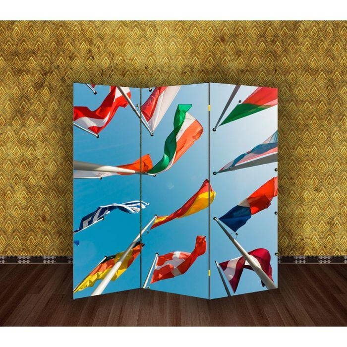 """Ширма """"Флаги"""" 150 × 160см"""