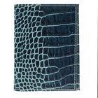 Обложка для автодокументов, аллигатор, цвет тёмно-бирюзовый