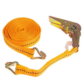 Стяжка груза с механизмом 110 мм, ширина ленты 25 мм, нагрузка 400/800 кг, длина 4 м