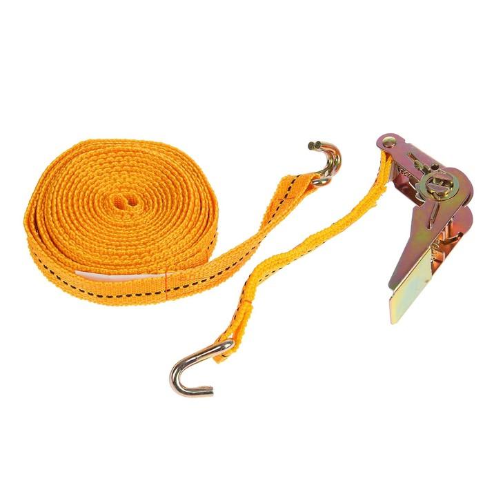 Стяжка груза с механизмом 110 мм, ширина ленты 25 мм, нагрузка 400/800 кг, длина 6 м