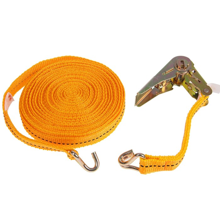 Стяжка груза с механизмом 110 мм, ширина ленты 25 мм, нагрузка 400/800 кг, длина 10 м