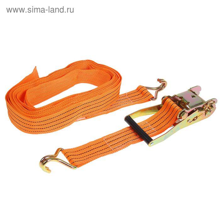 Стяжка груза с механизмом 230 мм, ширина ленты 50 мм, нагрузка 2500/5000 кг, длина 8 м
