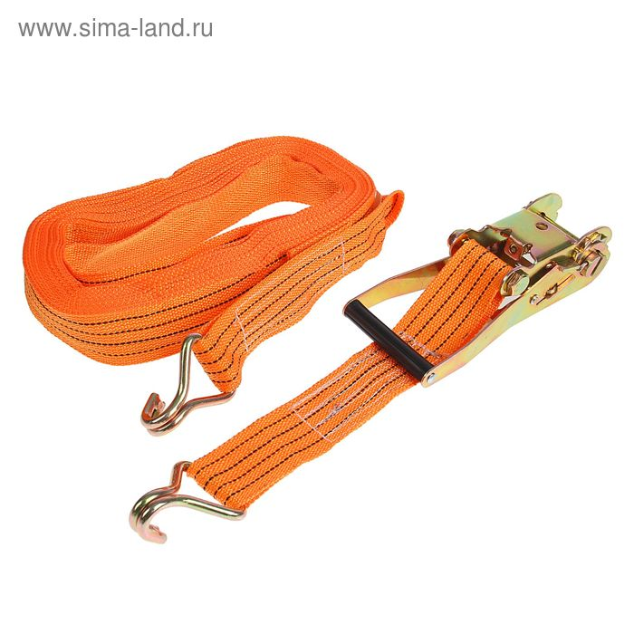 Стяжка груза с механизмом 230 мм, ширина ленты 50 мм, нагрузка 2500/5000 кг, длина 12 м