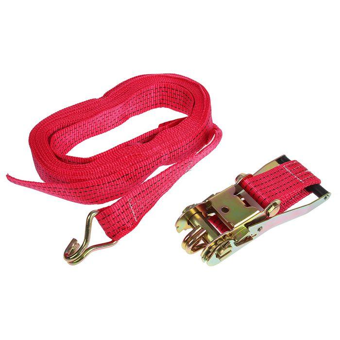 Стяжка груза с механизмом 230 мм, ширина ленты 50 мм, нагрузка 5000/10000 кг, длина 10 м
